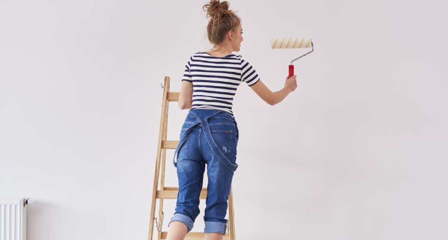 hoe verf je een muur